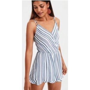 american eagle stripped romper